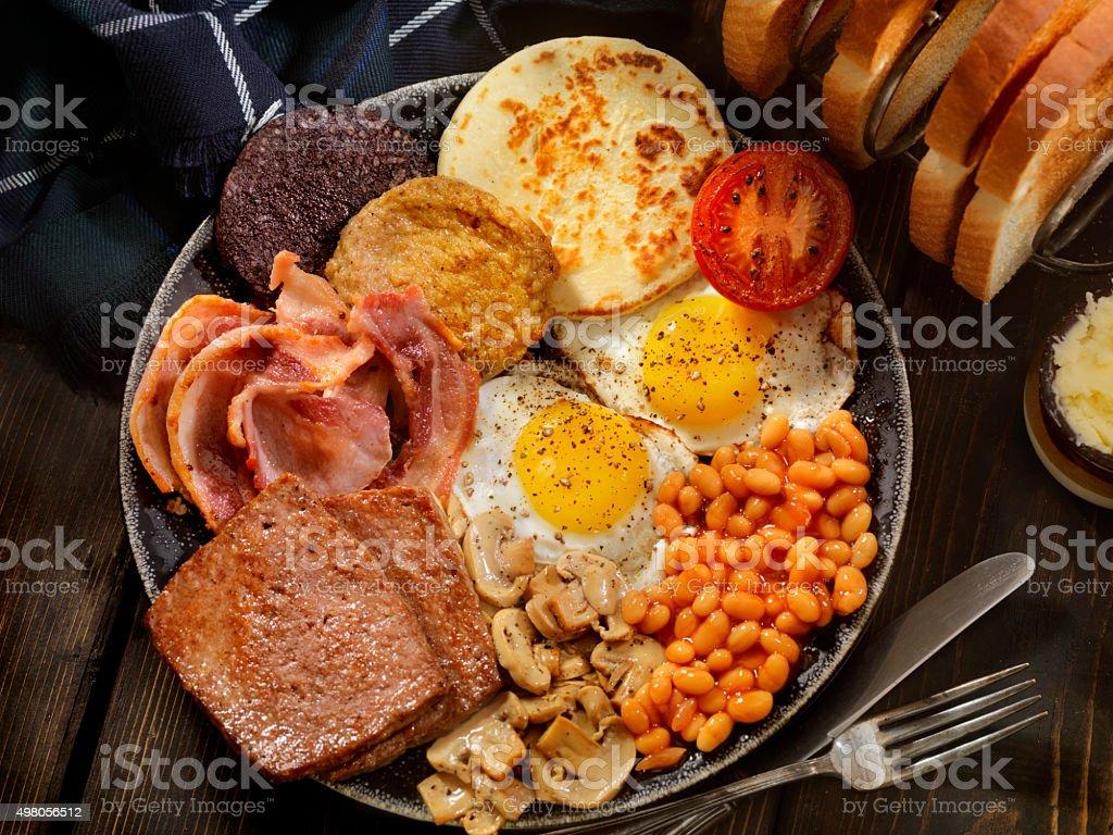 Completo desayuno tradicional escocesa - foto de stock