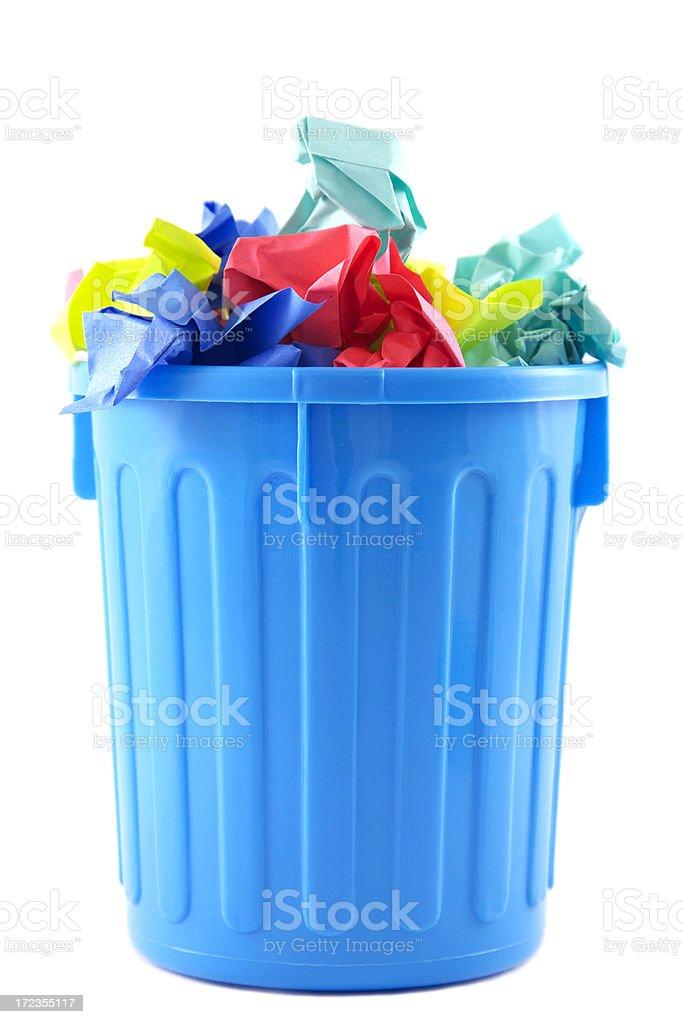 Full trashcan royalty-free stock photo
