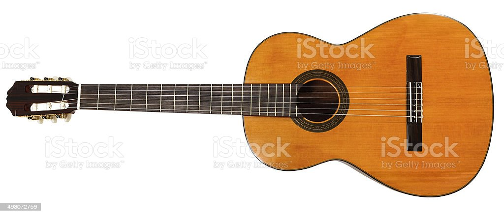 full view of prime acoustic guitar stock photo