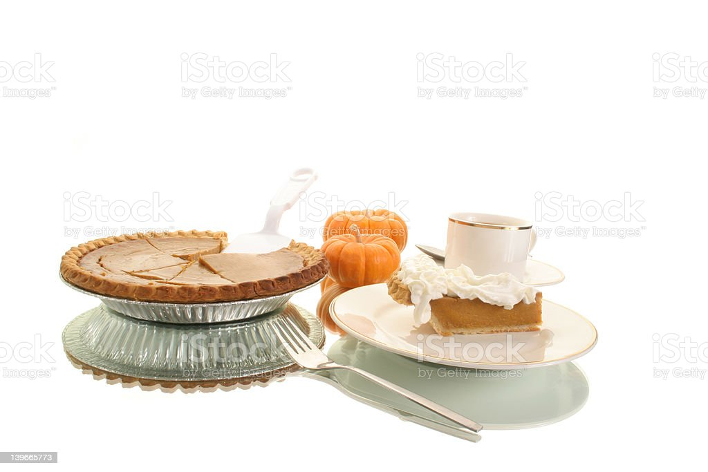 full view of pumpkin pie royalty-free stock photo
