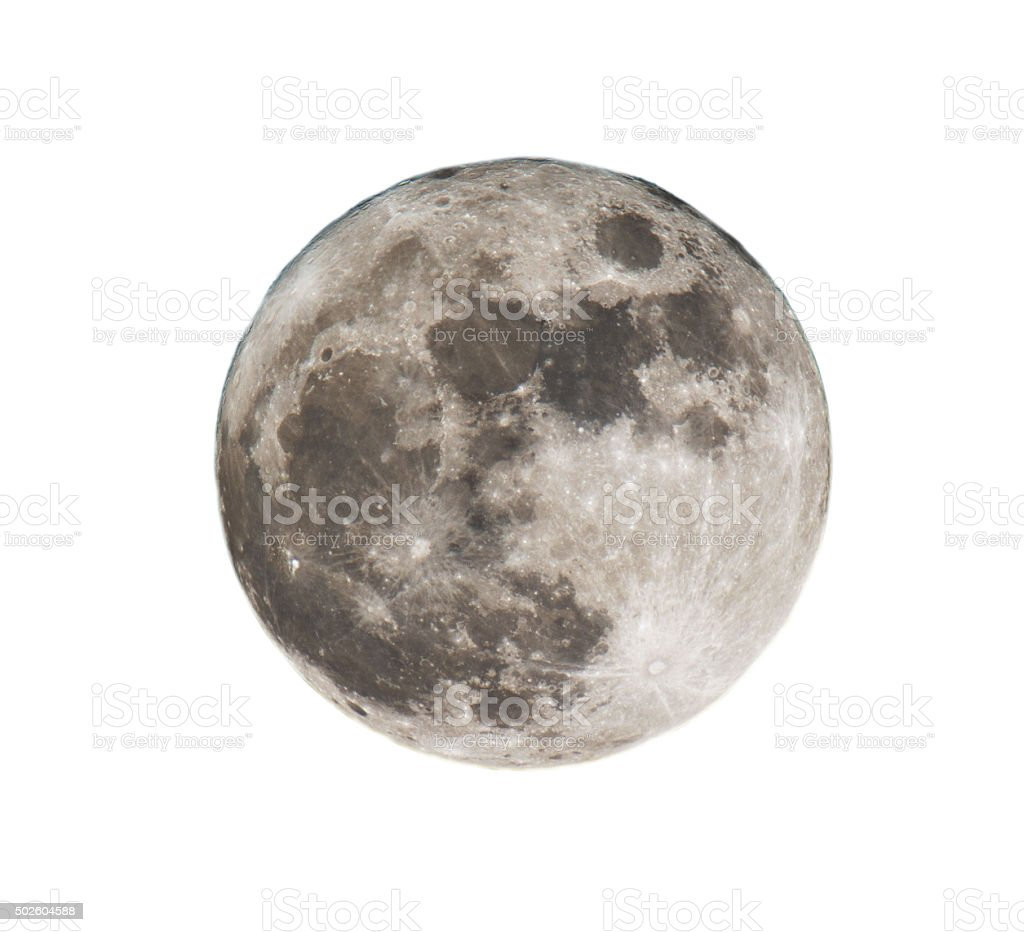 full yellow moon stock photo