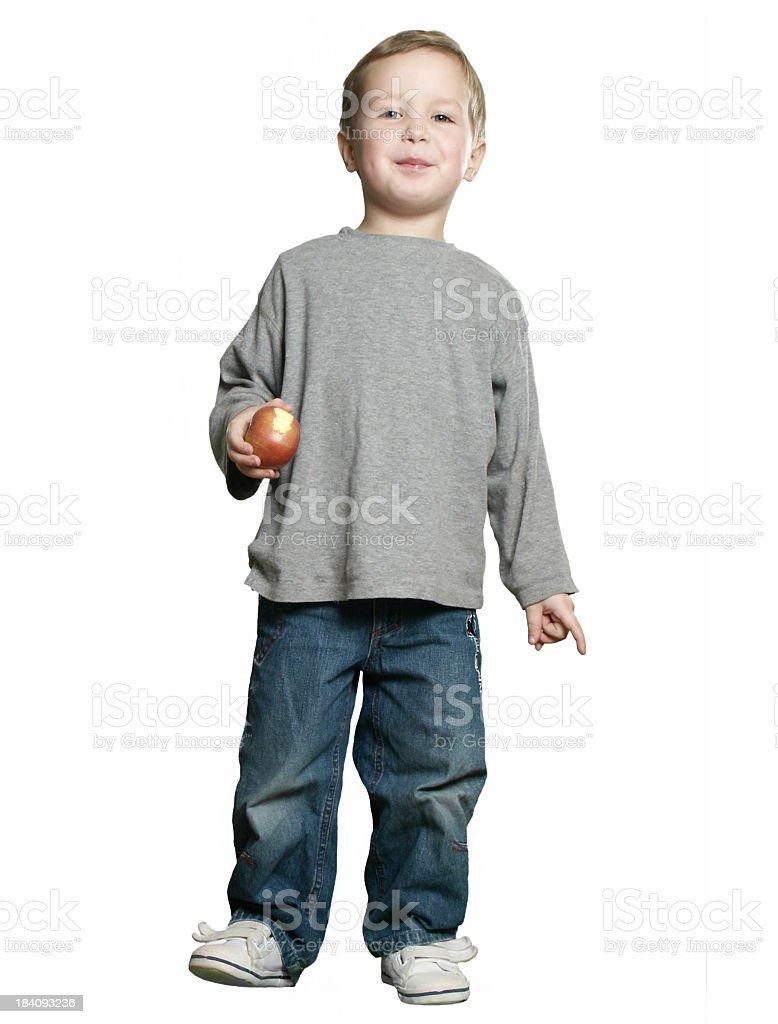 Fullbody - happy Boy stock photo