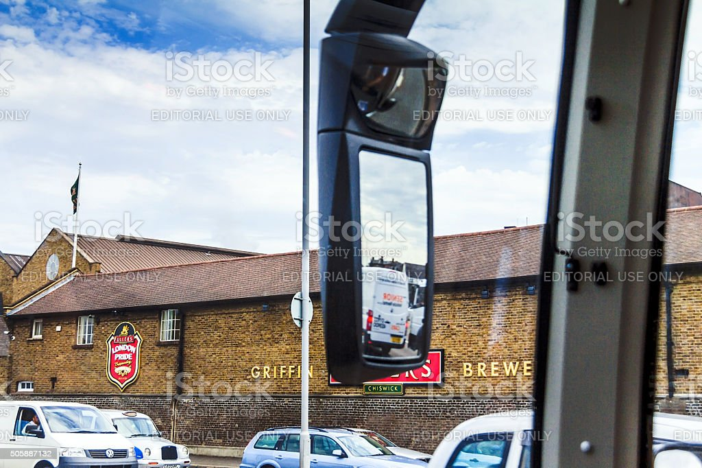 Fuller Griffin Brewery in Chiswick, London stock photo