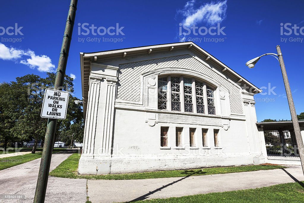 Fuller Park Field House, Chicago royalty-free stock photo