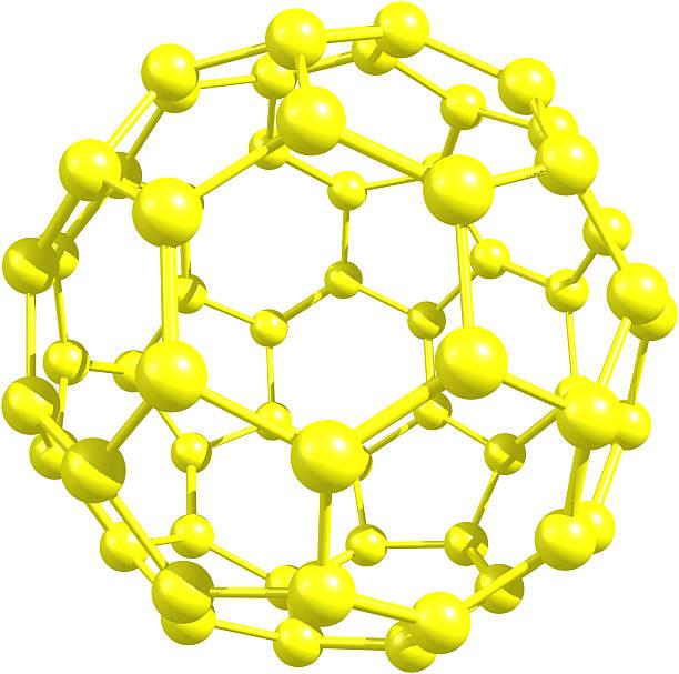 Molekularnej modelu Fullerene z których pozyskuje się żywność – zdjęcie