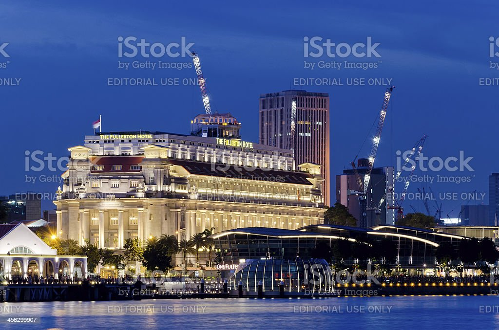 Fullerton Hotel Singapore stock photo