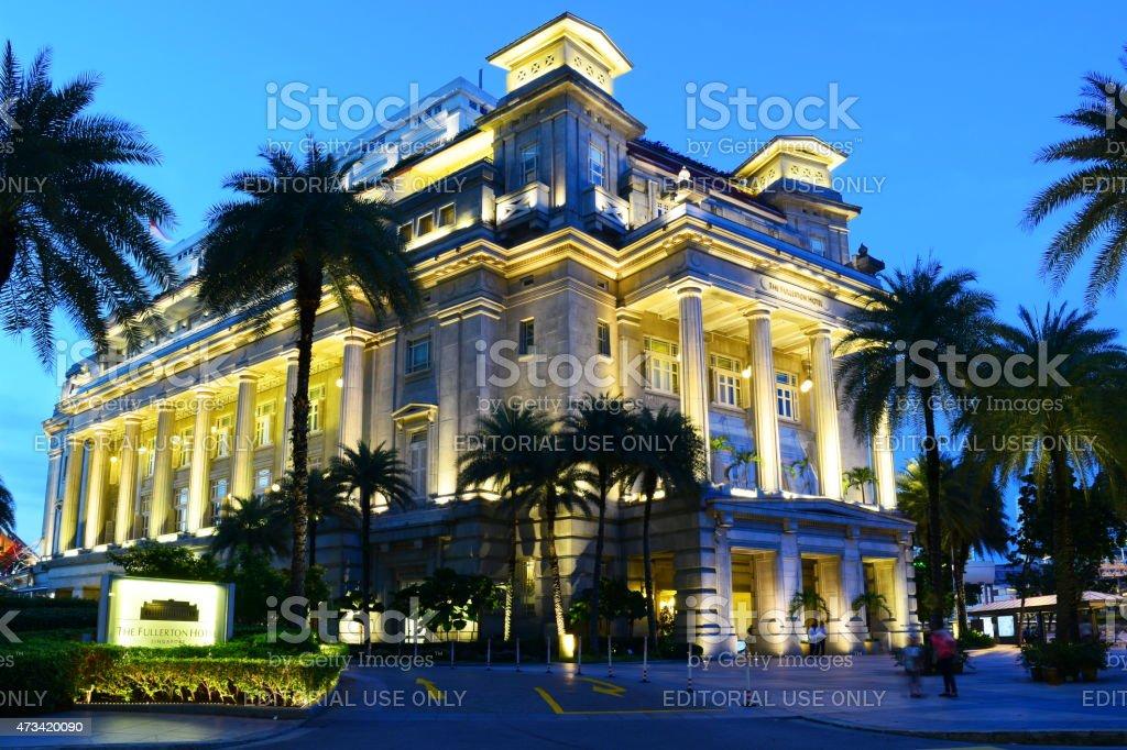 Fullerton Hotel, Singapore stock photo