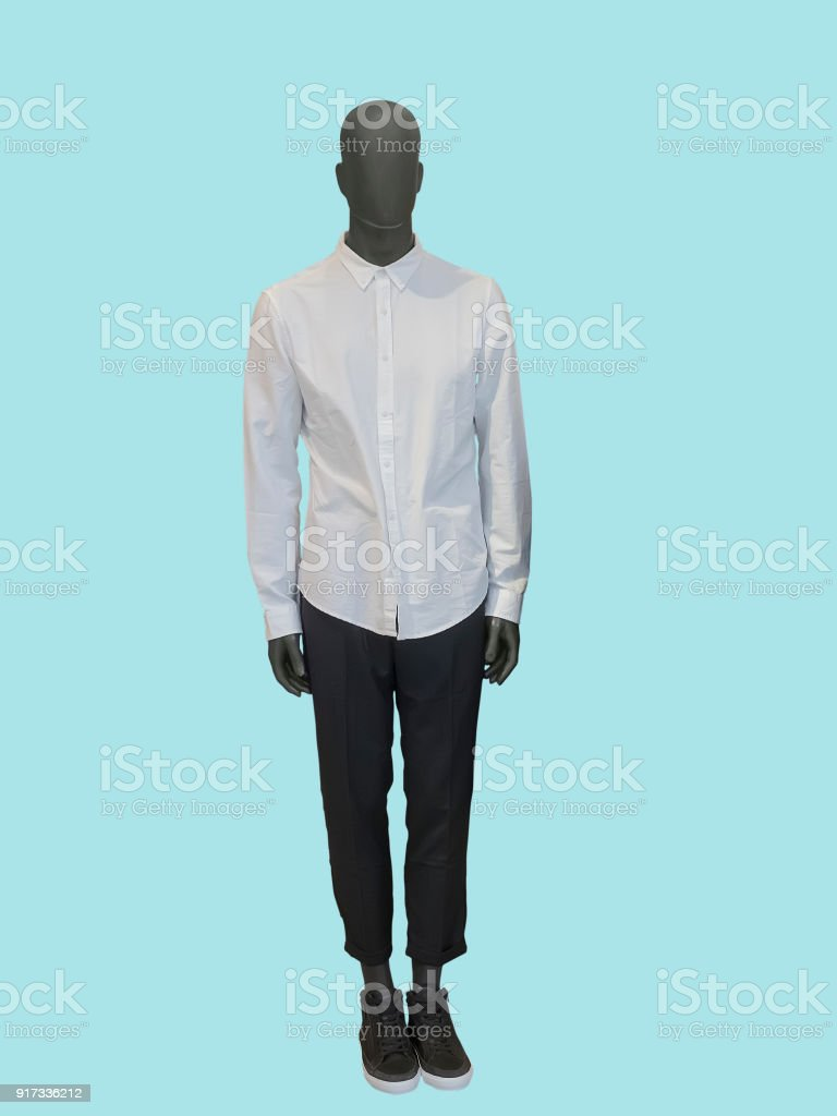 Full-length male mannequin stock photo