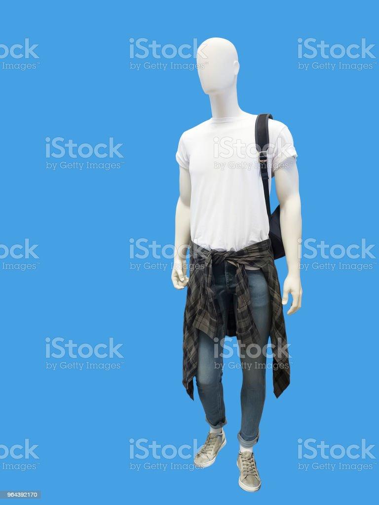 Full-length mannelijke etalagepop. - Royalty-free Blauw Stockfoto