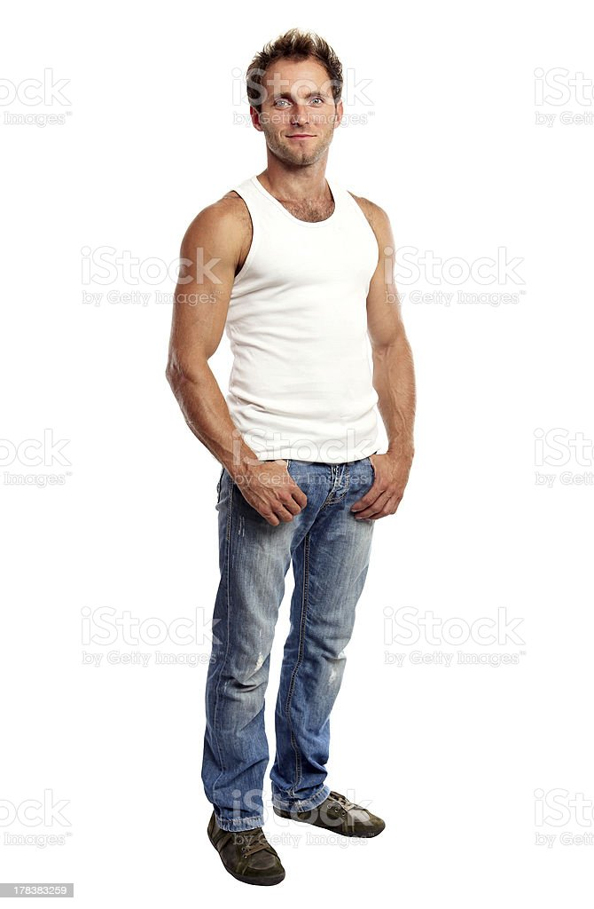 Full-length of handsome young man royalty-free stock photo