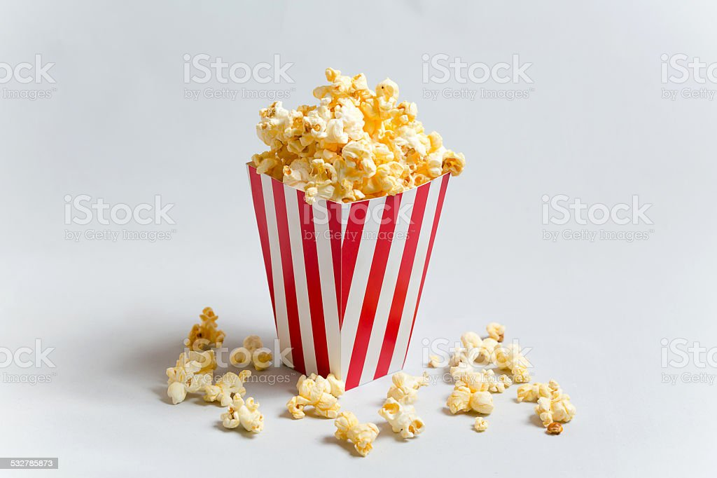 Fullpopcorninclassicpopcornbox stock photo