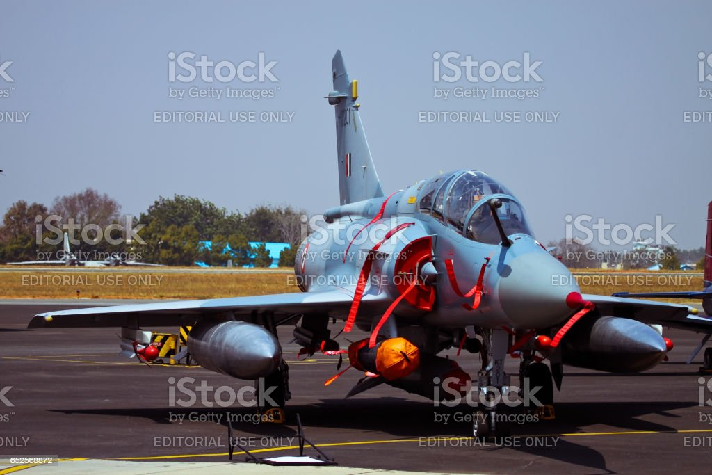 Fully armed Mirage-2000H displayed stock photo