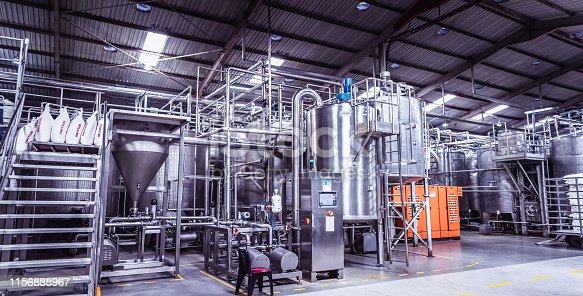 Africa, Industry, Business, Factory, Storage - Wide Image from a Dairy Plant in Africa