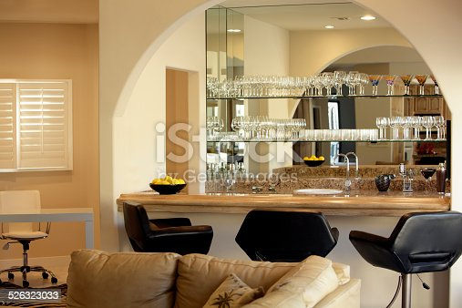 istock Fully Equipped Home Bar,Office And Great Room 526323033
