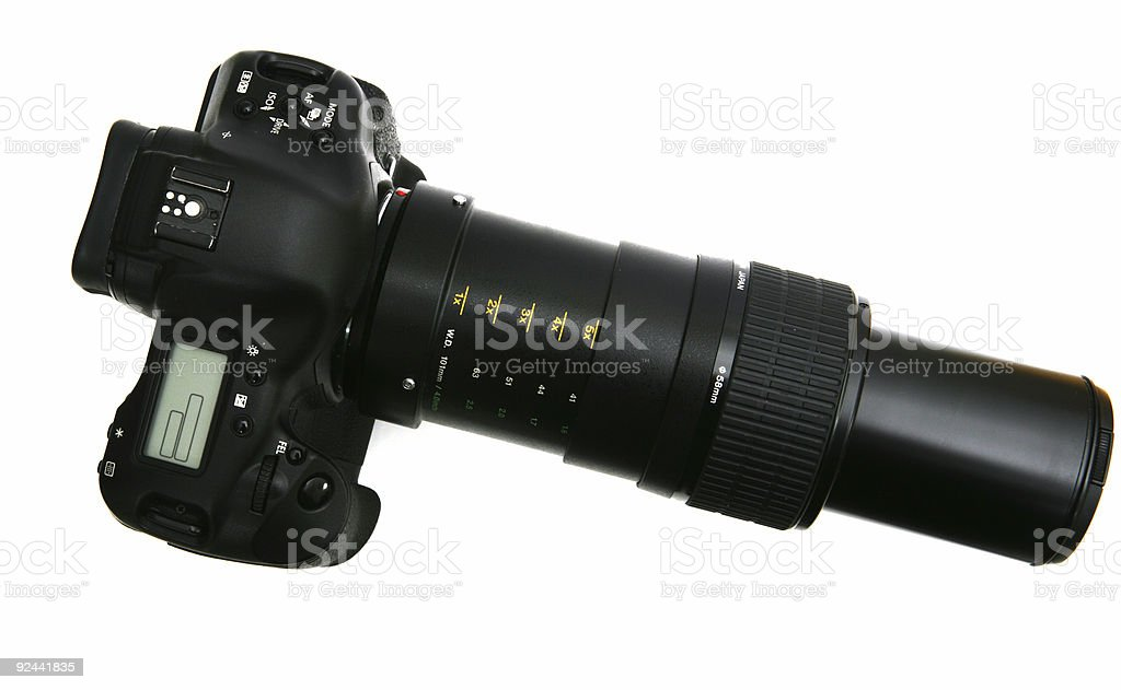 Fully extended Lens royalty-free stock photo