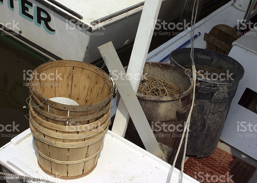 Fully Outfitted Commercial Crabbing Boat royalty-free stock photo