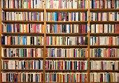 Fully packed library shelves