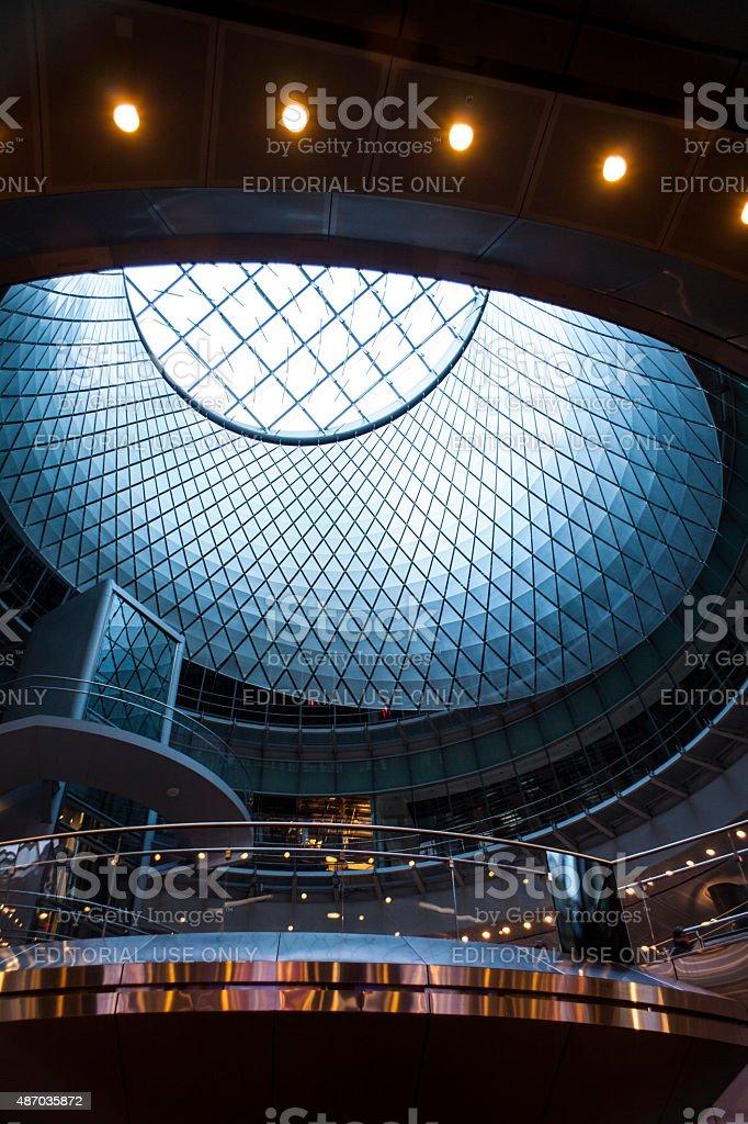 Fulton Center Transit Hub Skylight stock photo