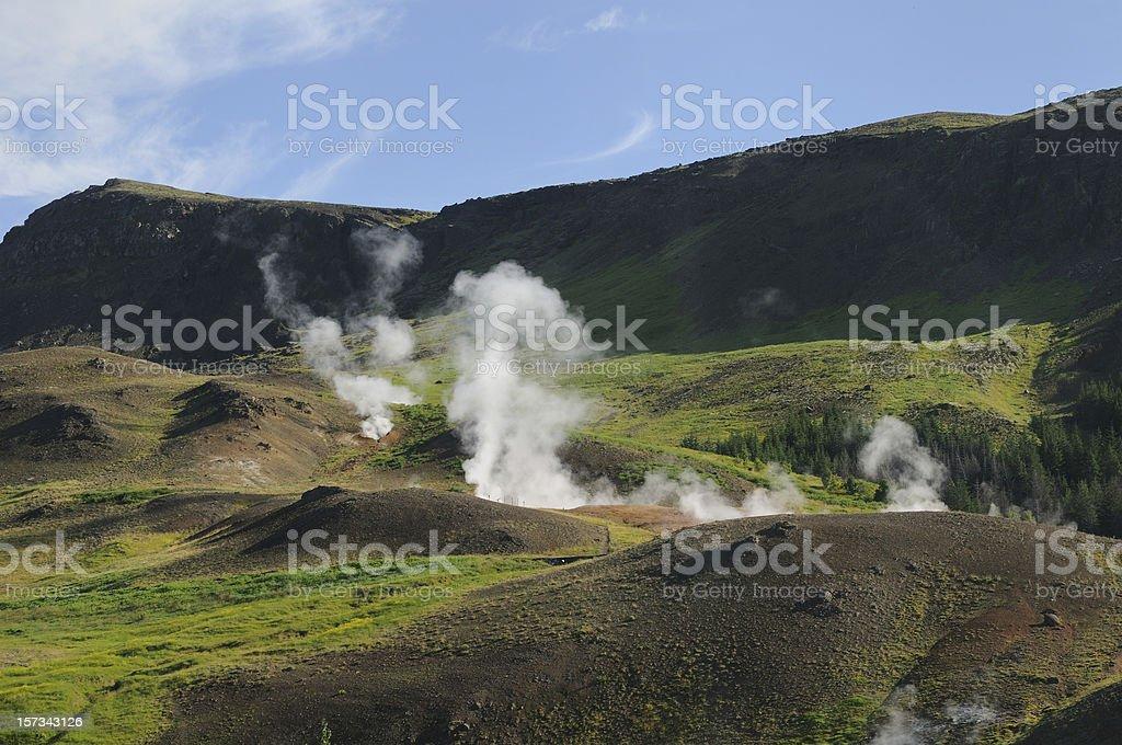 Fumarole stock photo