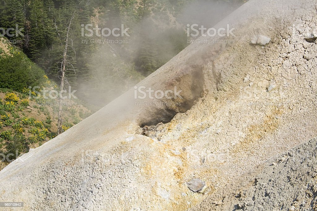 Fumarole royalty-free stock photo