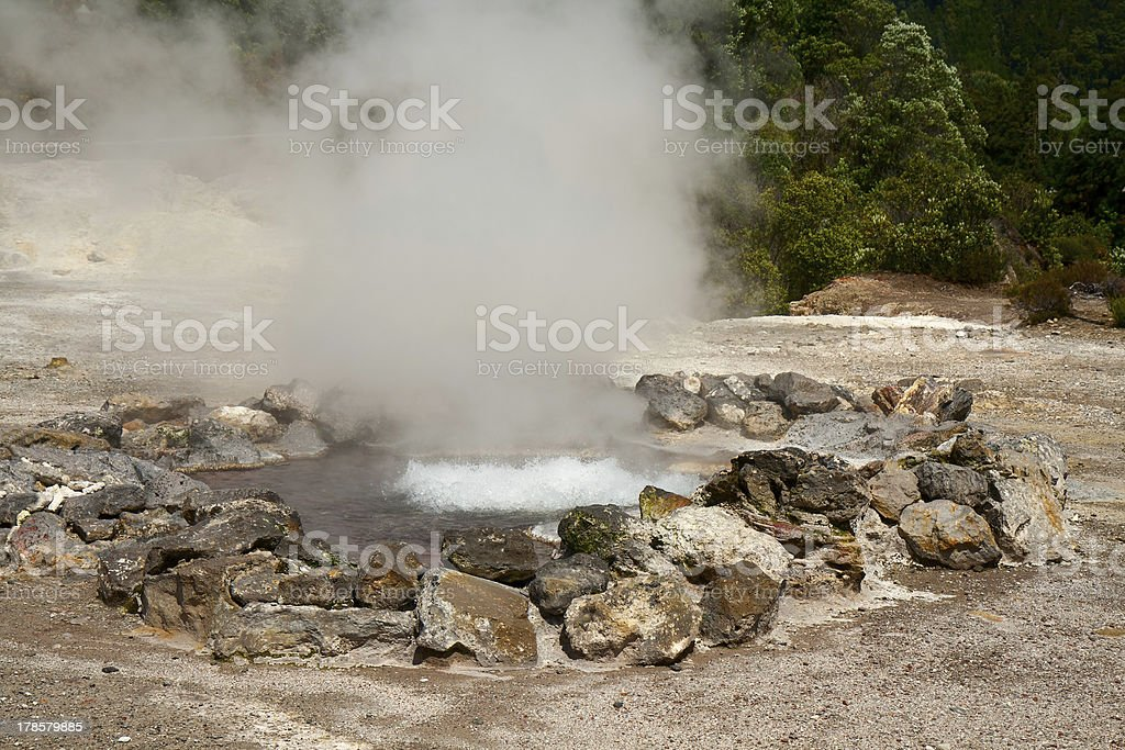 Fumarole thermal springs royalty-free stock photo