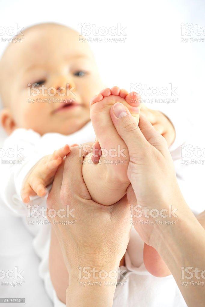 Fußmassage Baby – Foto