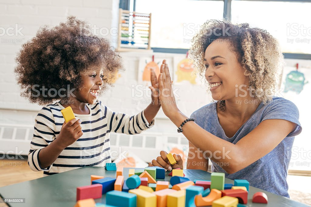 Fun activities for 3 years old - foto de stock