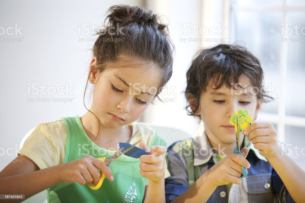 Fun and easy kids craft stock photo
