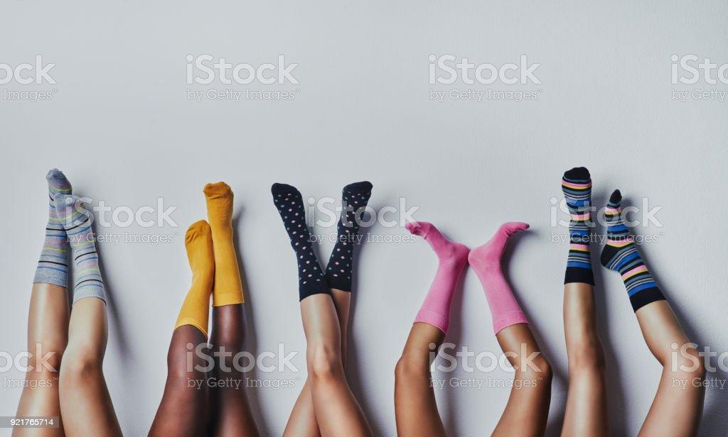 Fun and funky socks stock photo