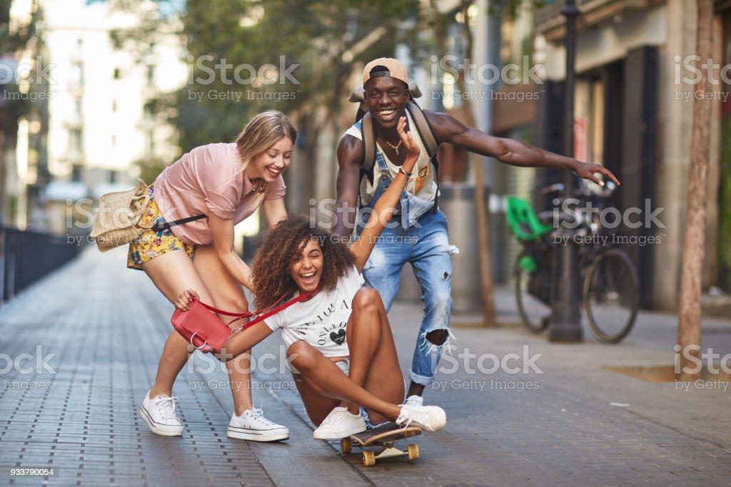 Spaß in der Stadt – Foto
