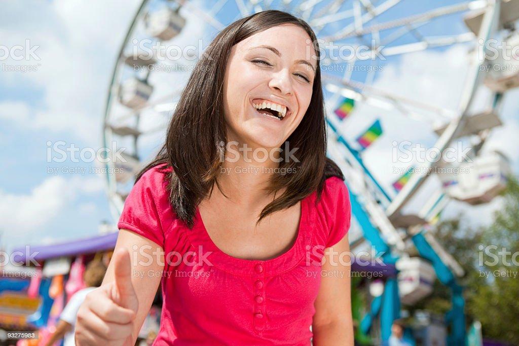 Fun at a Carnival royalty-free stock photo