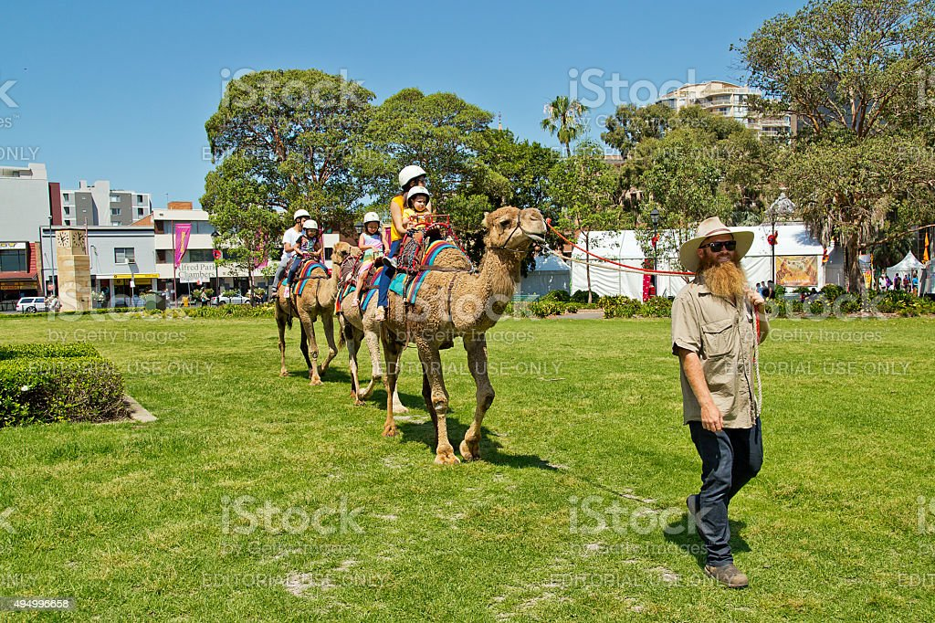 Fun at a multicultural festival in Sydney stock photo