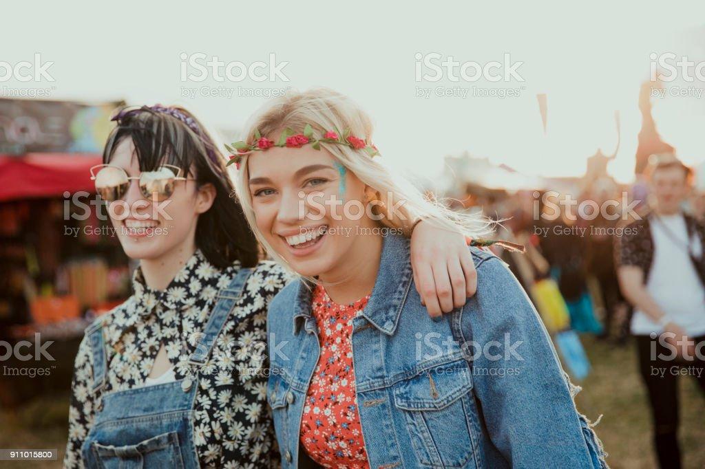 Fun at a Music Festival stock photo