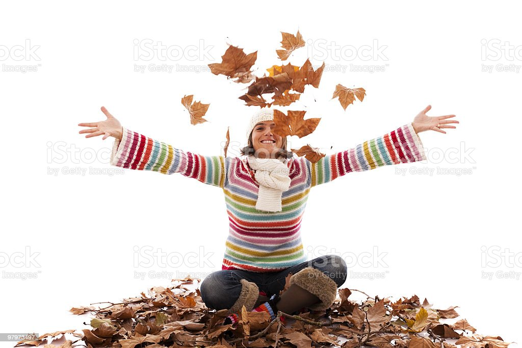 Fun at autumn season royalty-free stock photo