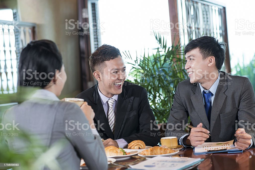 Fun at lunch royalty-free stock photo