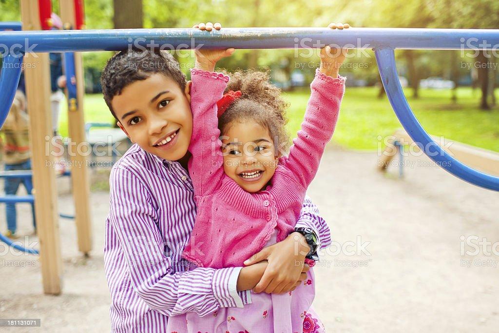 Fun at playground royalty-free stock photo