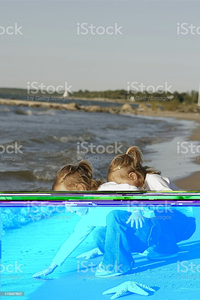 Fun at the Beach royalty-free stock photo