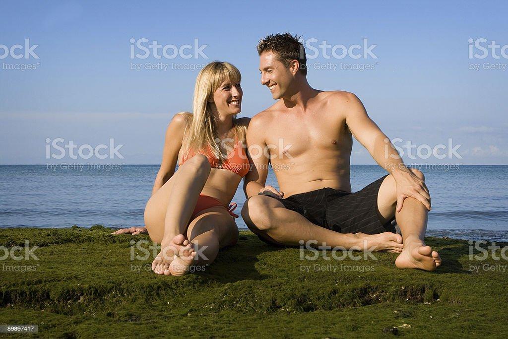 Fun at the beach royalty-free stock photo