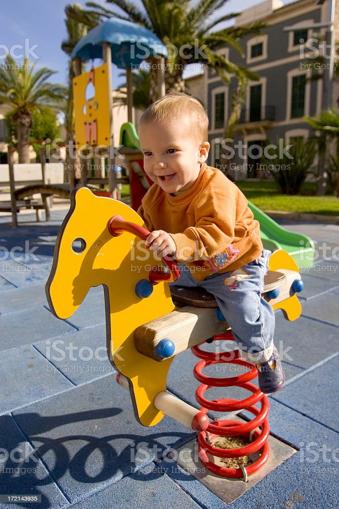 fun at the playground royalty-free stock photo