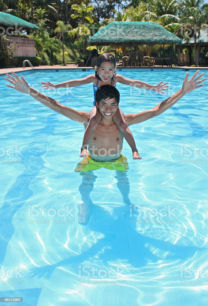 fun at the pool royalty-free stock photo