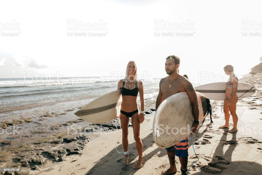 Fun beach activities stock photo