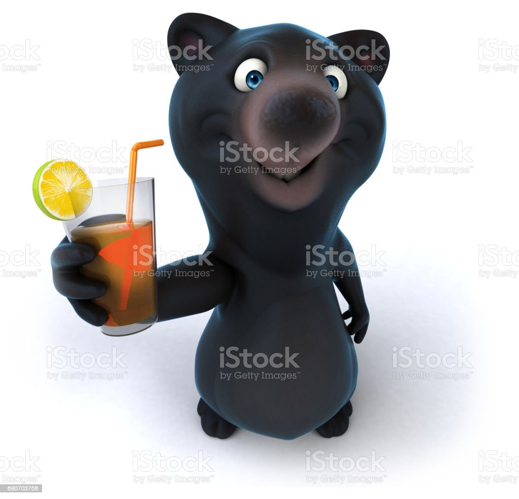 Fun bear stock photo