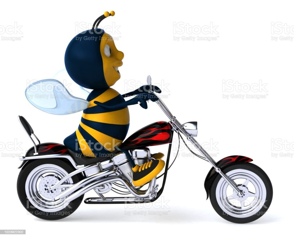 Mon Softail Héritage  - Page 9 Fun-bee-3d-illustration-picture-id1023922302