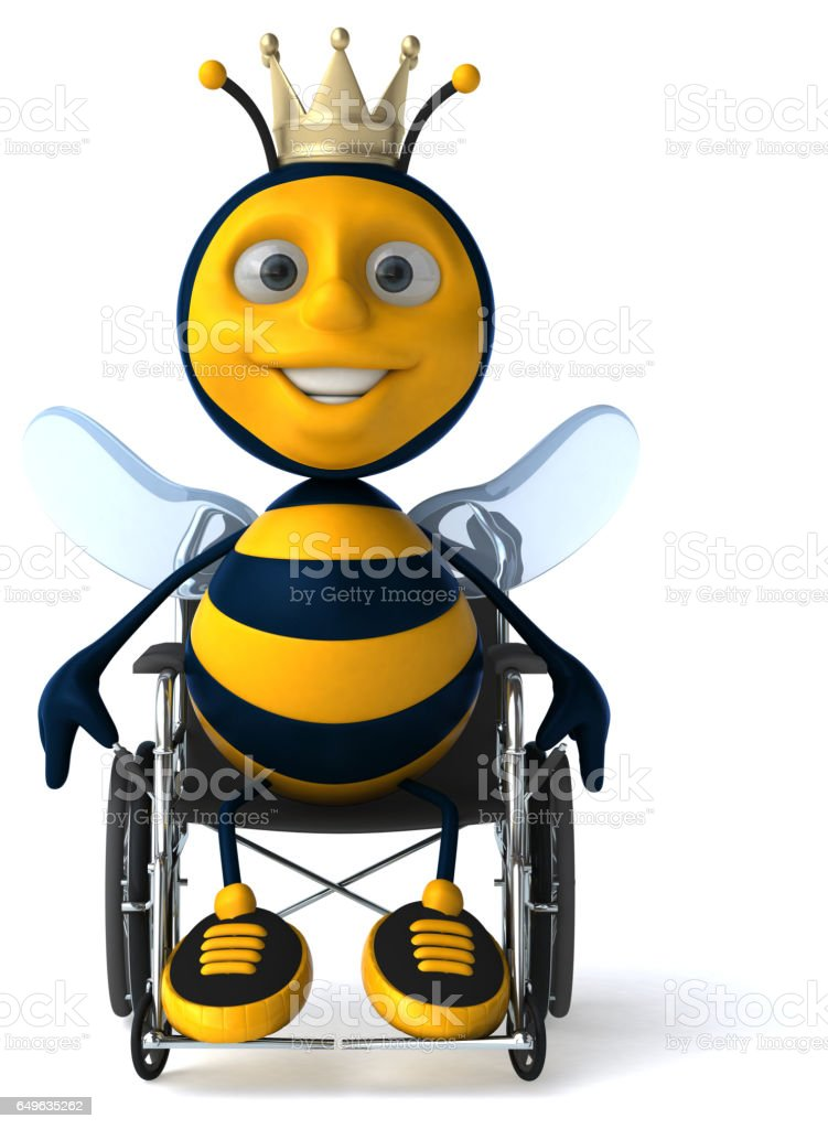 Fun bee - 3D Illustration stock photo