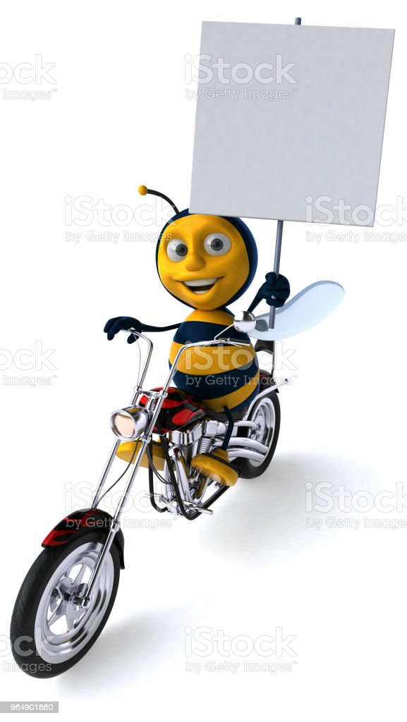 Fun bee - 3D Illustration royalty-free stock photo