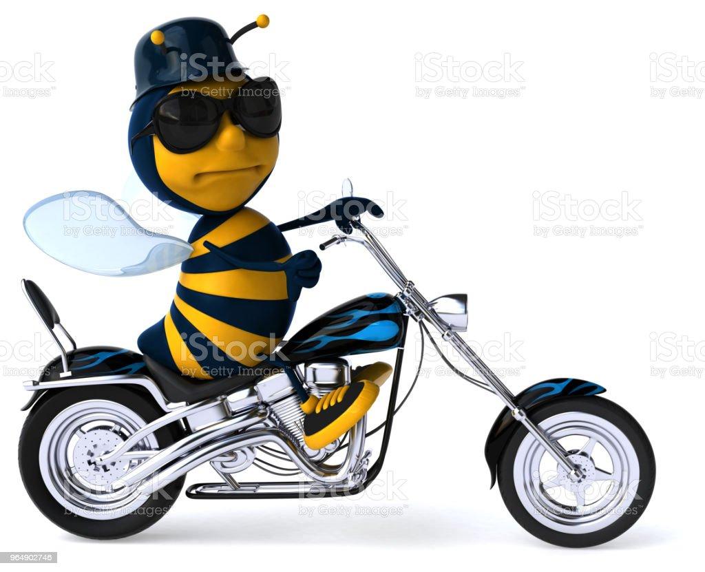 有趣的蜜蜂-3D 圖 - 免版稅冒險圖庫照片