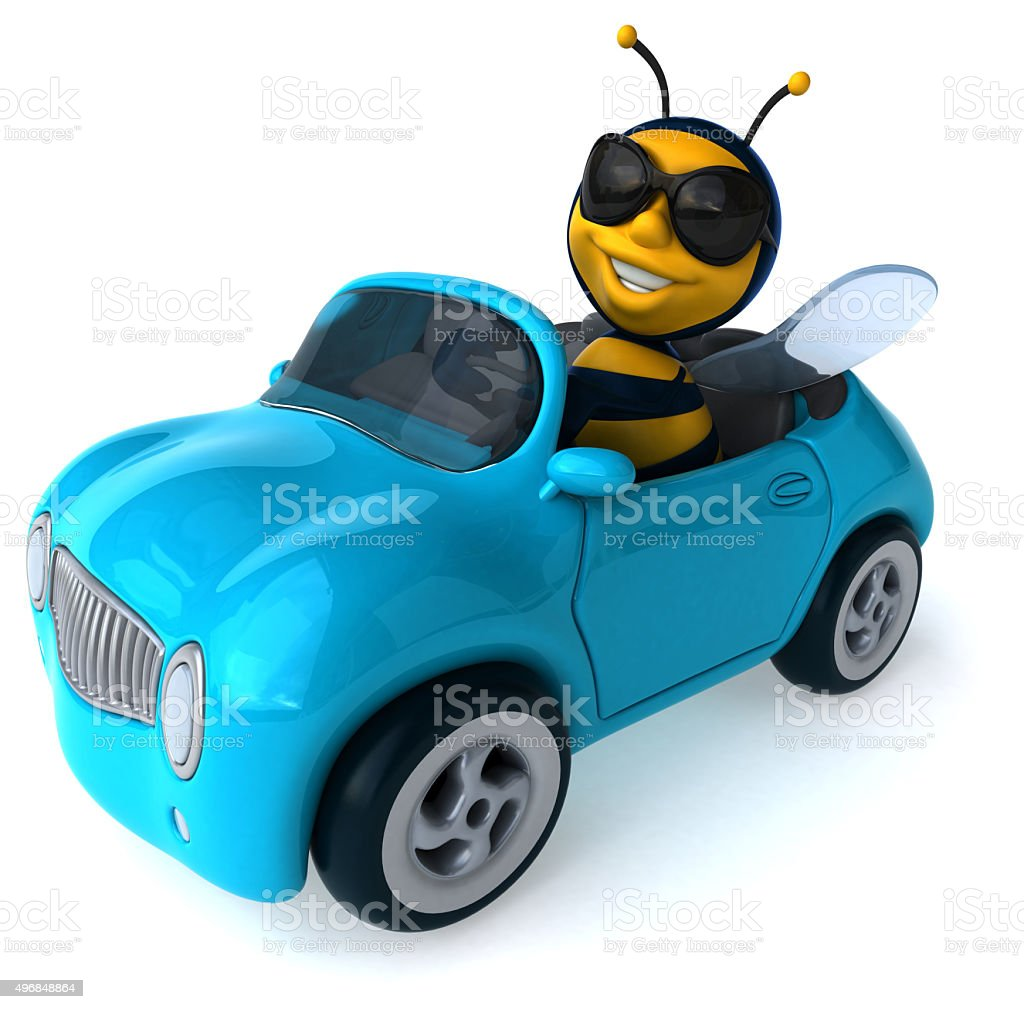 Divertimento ape - foto stock