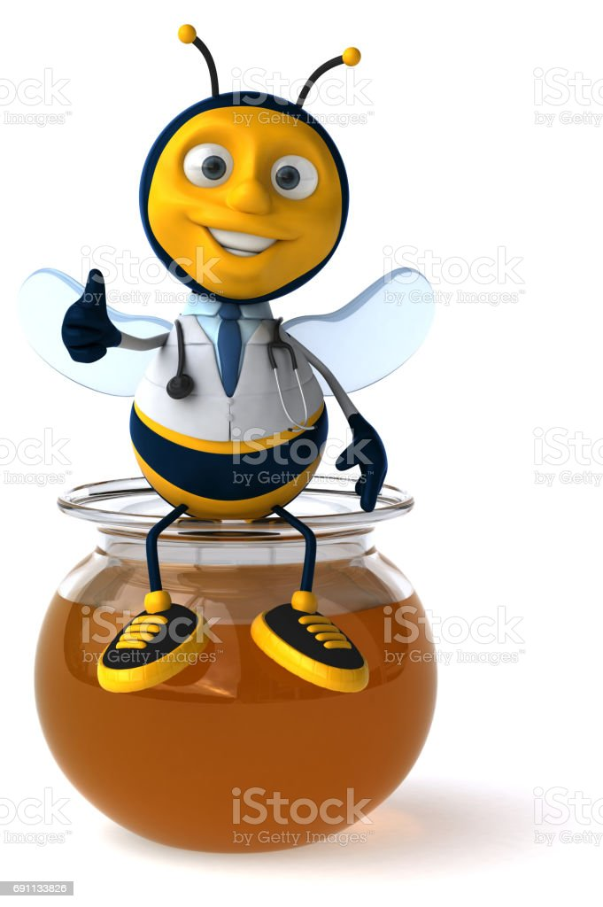 Fun bee stock photo