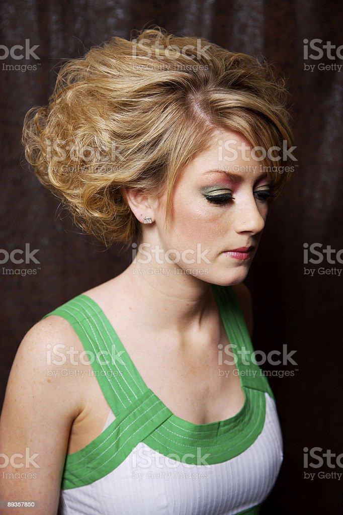 fun blonde portraits de femmes photo libre de droits
