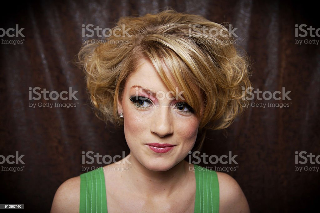 fun blonde female portraits royalty-free stock photo